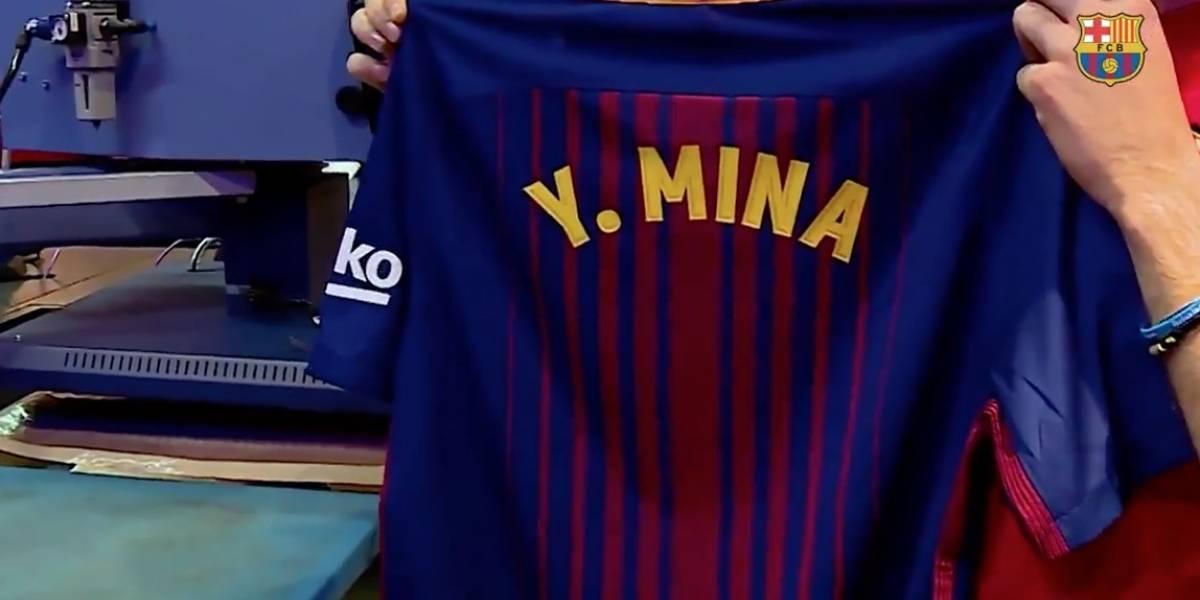 (Video) El sentido recibimiento de los hinchas y el Barcelona a Yerry Mina