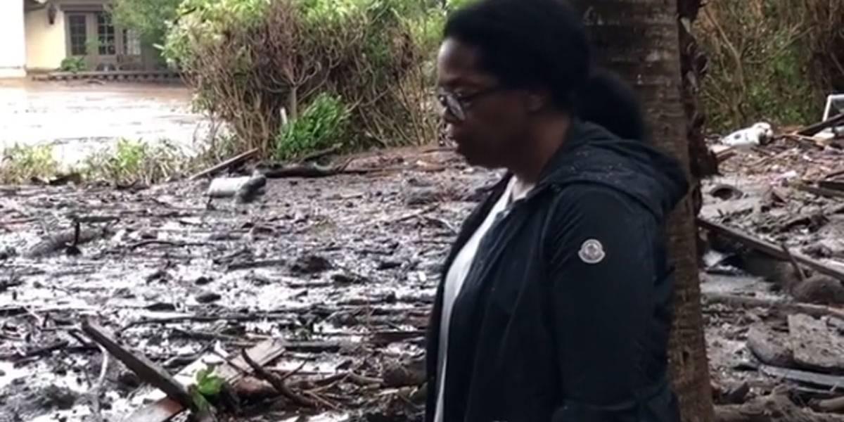 Oprah Winfrey mostra mar de lama que atingiu sua vizinhança após deslizamentos; vídeo