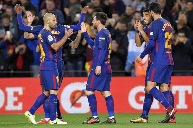 Gol del Barcelona contra el Celta de Vigo