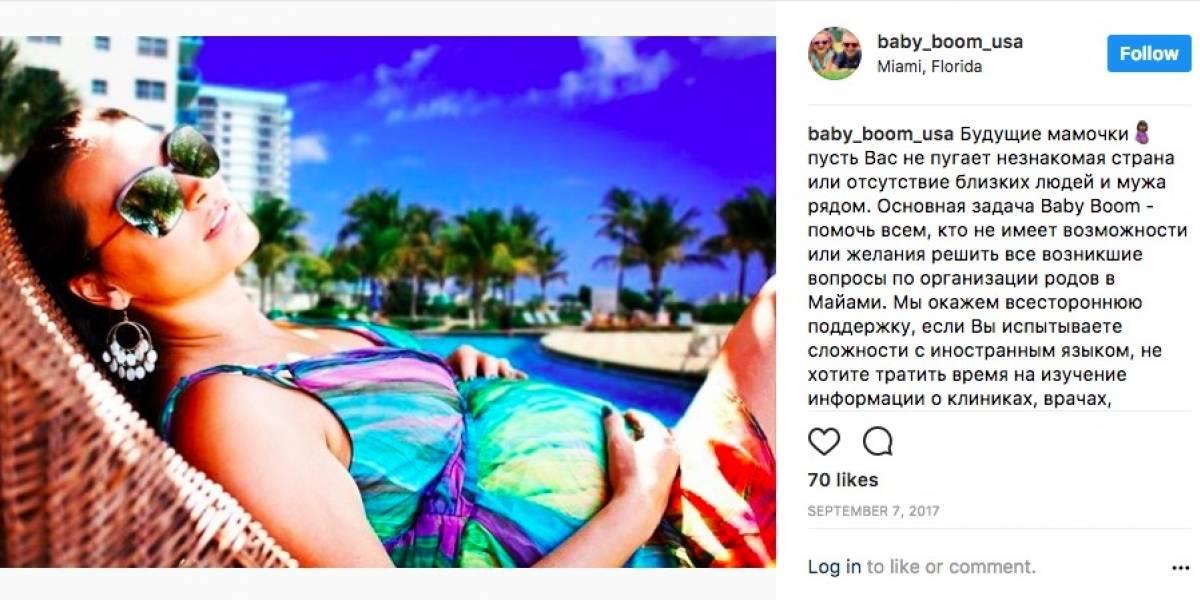 Mujeres rusas viajan a Miami para dar a luz