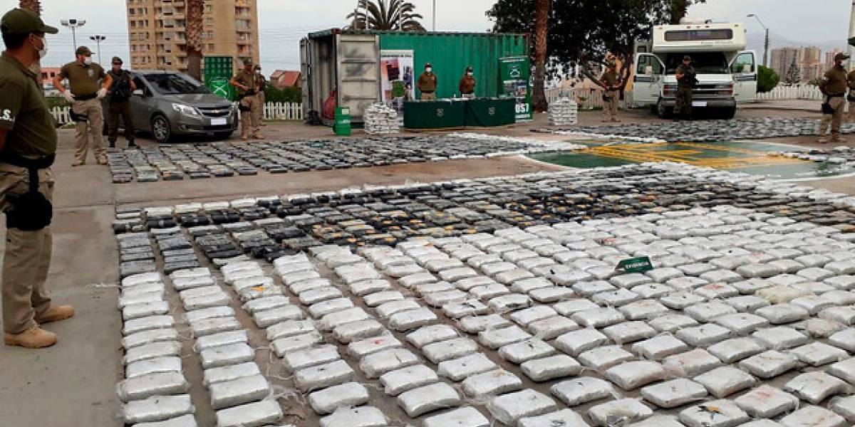 El mayor golpe al narcotráfico en 17 años: así fue la incautación de más de 2 mil kilos de marihuana creepy en Antofagasta