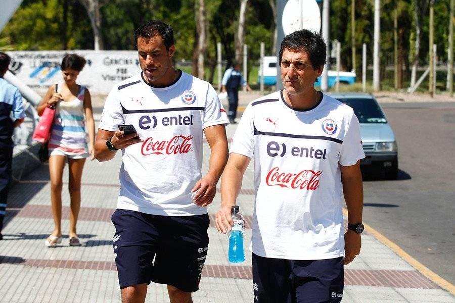 Zamora y Salas con los colores de la Selección. Llevaron a la Roja Sub 20 a los cuartos de final del mundial Turquía 2013 / Foto: Agencia UNO