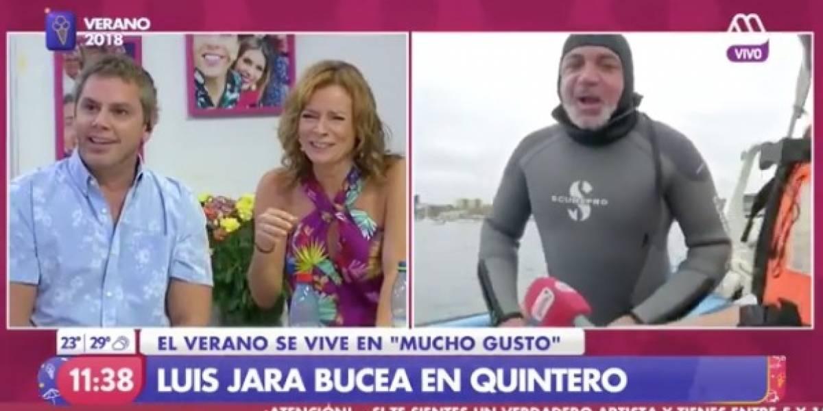 """Lucho Jara fue a bucear con """"Mucho Gusto"""" y protagonizó divertido momento"""