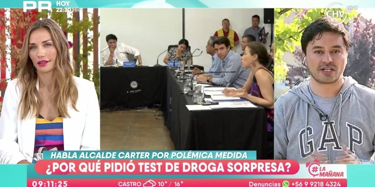 """""""Es inaceptable lo que me estás diciendo"""": La tensa discusión entre Carola de Moras, """"La mañana"""" de CHV y el alcalde de La Florida Rodolfo Carter"""