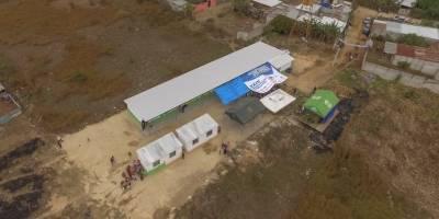 Inauguración escuela llanos de San Juan