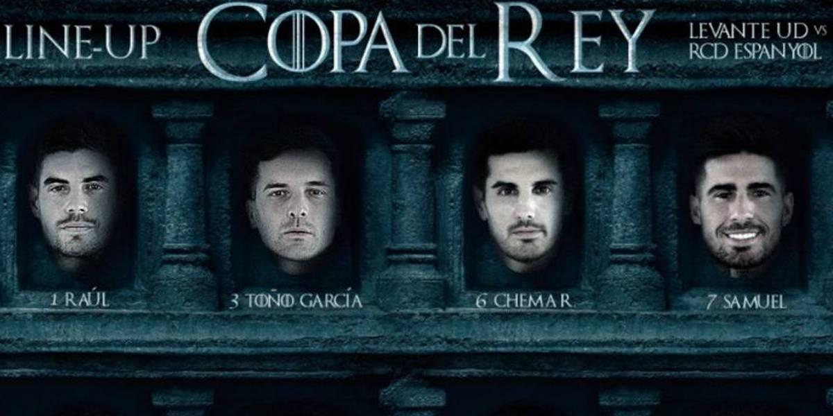 Levante faz escalação ao estilo 'Game of Thrones' para jogo na Copa do Rei