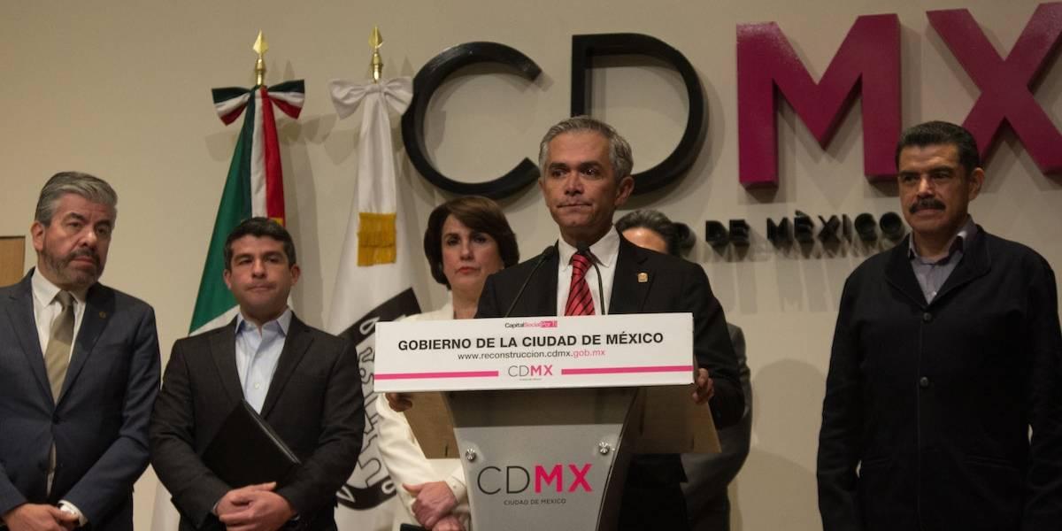 Mancera presenta programa para reconstrucción de la Ciudad de México