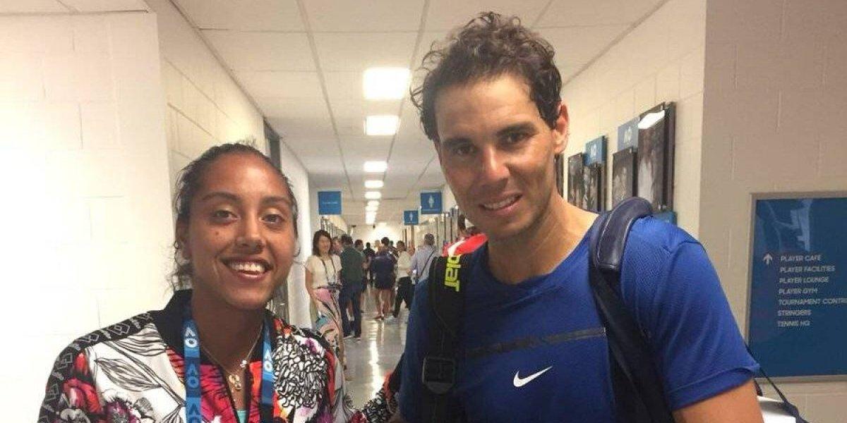 "Rafael Nadal ""hincha"" por Colo Colo gracias a Daniela Seguel"