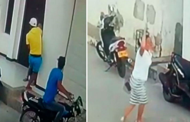 Así se enfrentó una mujer a ladrones que querían robarle el dinero que retiró de un cajero