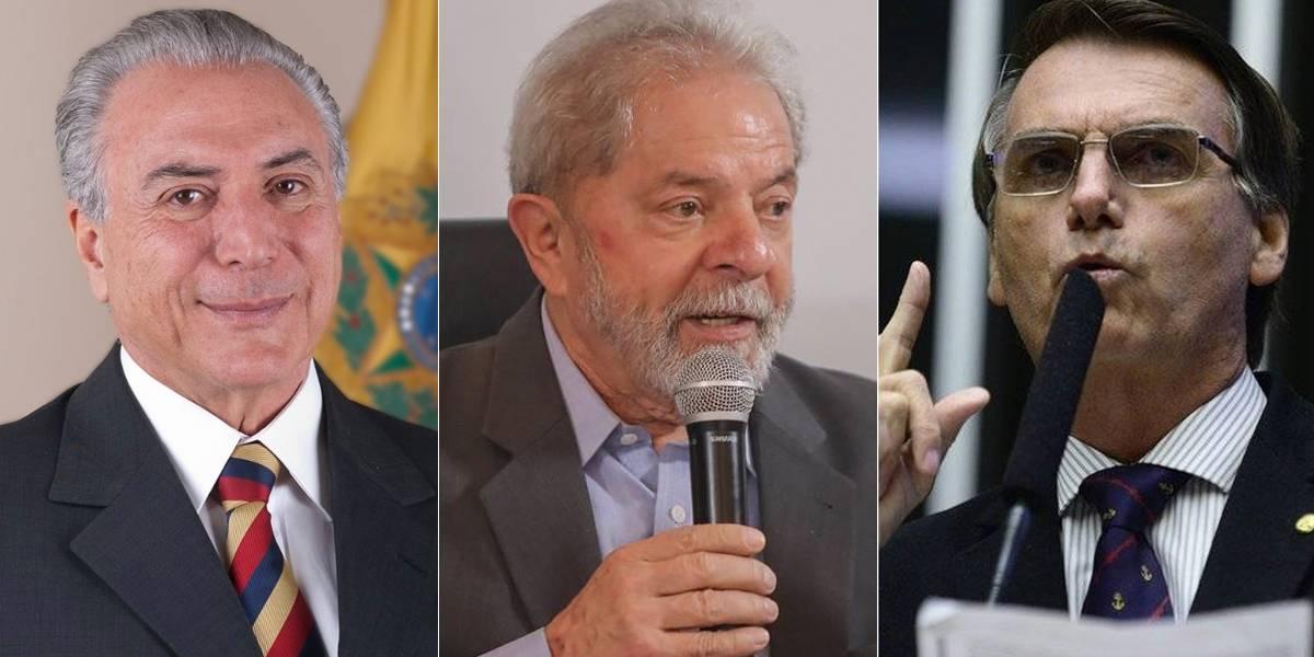 Lula, Temer e Bolsonaro são os políticos mais pesquisados no Google em 2017