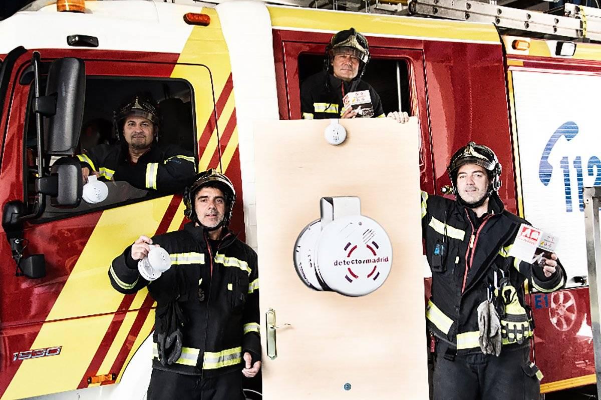 El Detector Madrid o DTM es un eficaz detector de humo inventado y desarrollado por un grupo de emprendedores del cuerpo de bomberos de Madrid. FOTO: DTM.