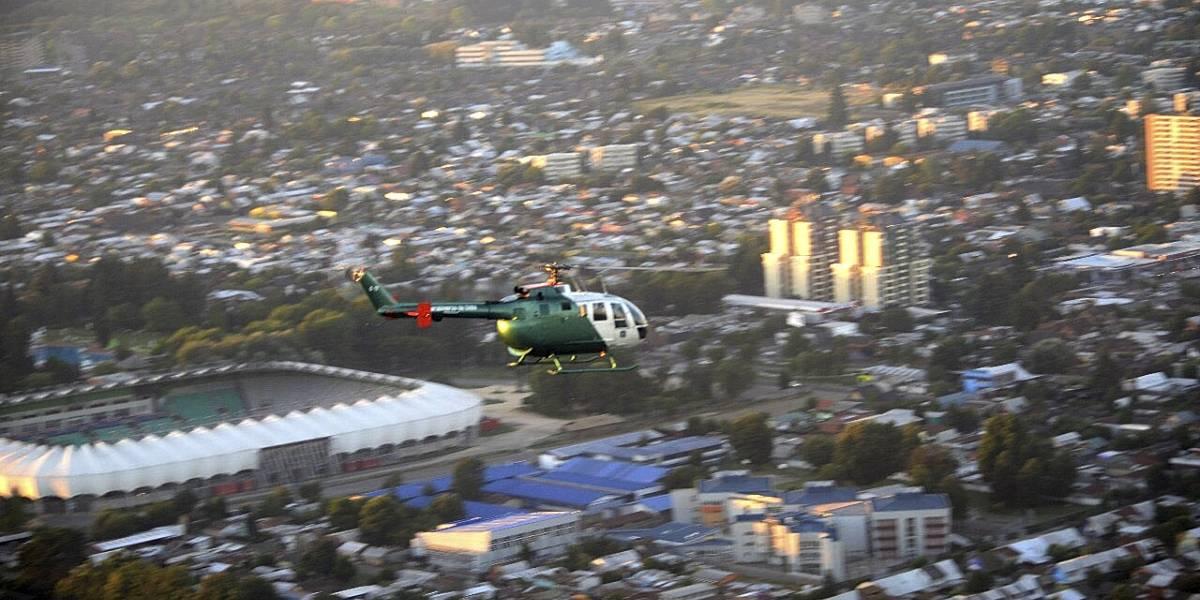 En la previa a llegada del Papa helicópteros hacen vuelos preventivos en Temuco