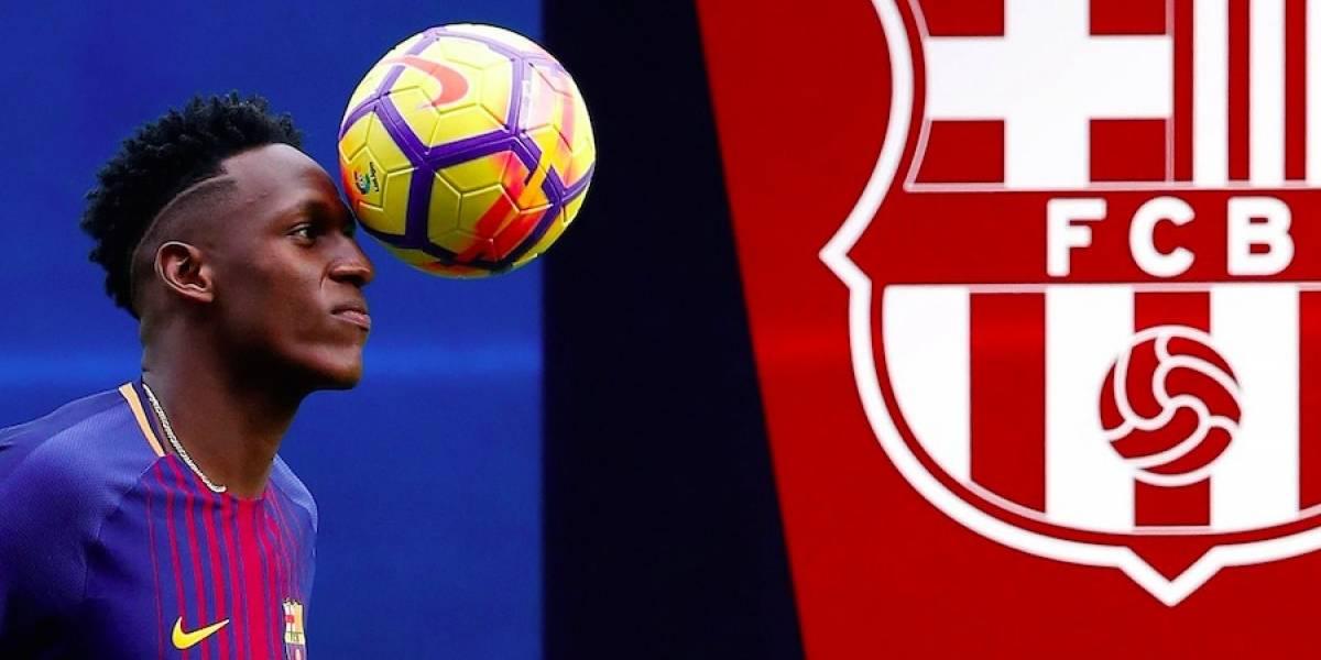Yerry Mina podría salir del Barcelona, sin ni siquiera haber debutado