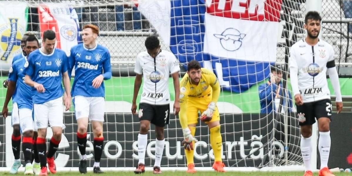 Corinthians leva quatro gols no segundo tempo e perde do Rangers na Flórida Cup