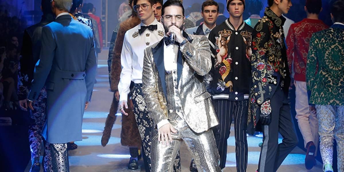 Maluma olvida letra de canción durante desfile Dolce & Gabbana