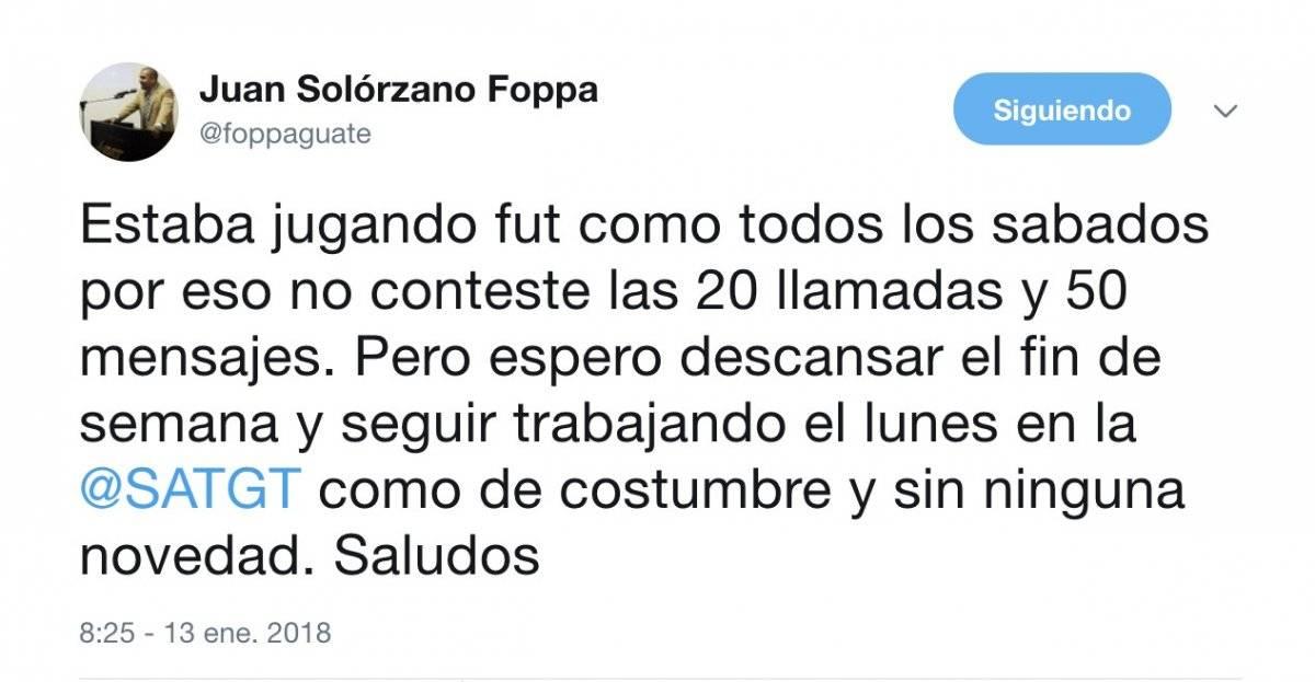 Mensaje Solórzano Foppa