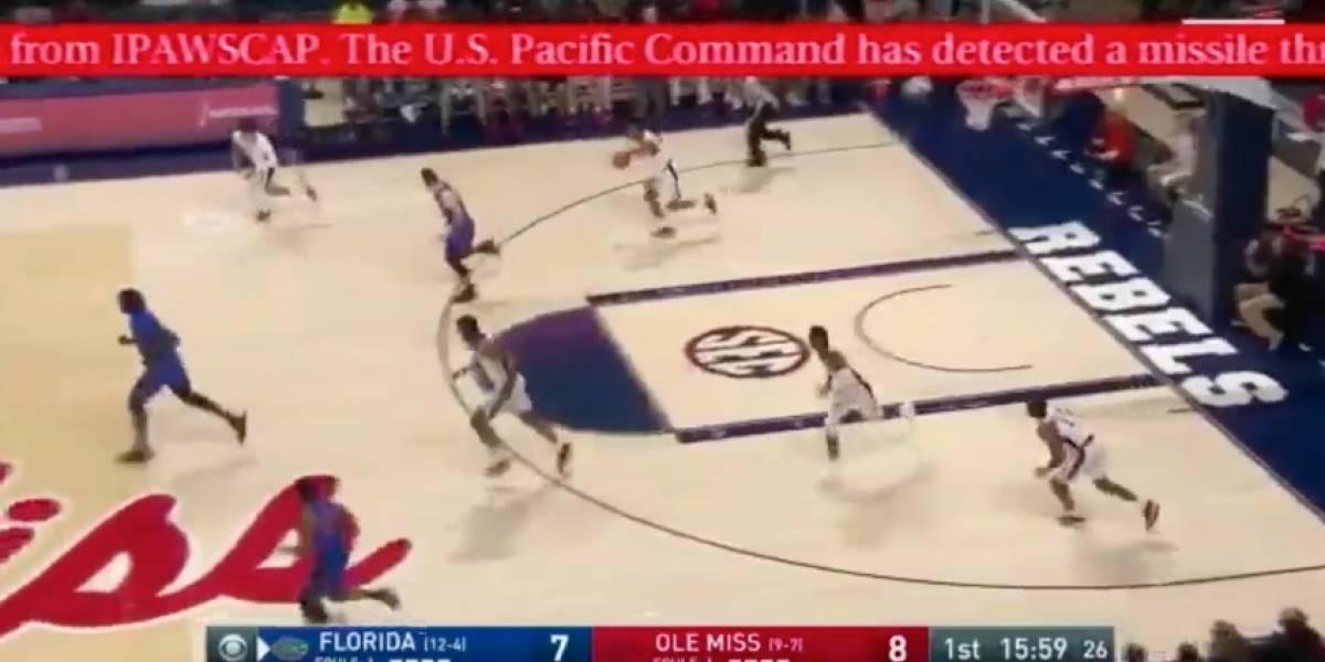 VIDEO: Así sorprendió falsa alerta de misil transmisiones deportivas en Hawaii