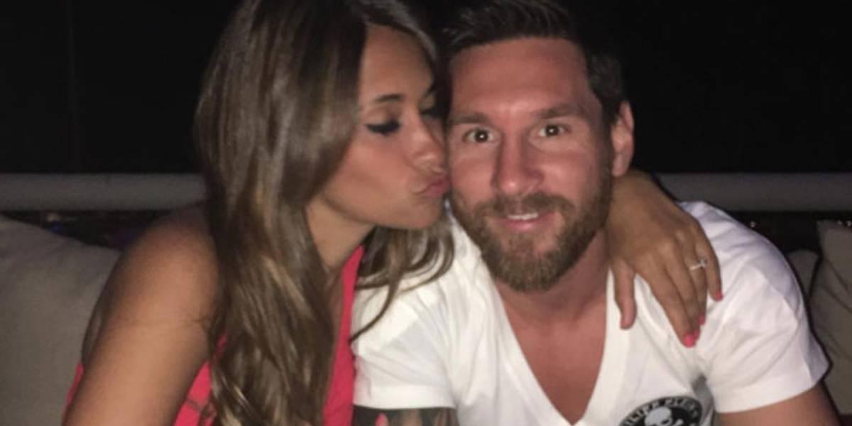 Messi fotografió a Antonela y muestran lo avanzado que está su embarazo