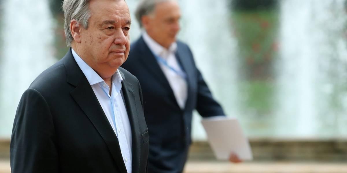 """Guterres ve """"compromiso total"""" del Gobierno  y las Farc con la paz"""