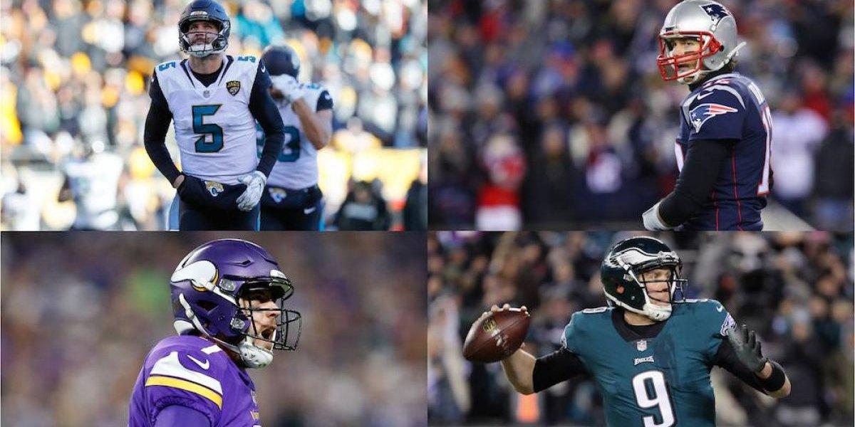 Los cuatro aspirantes al Súper Bowl LII