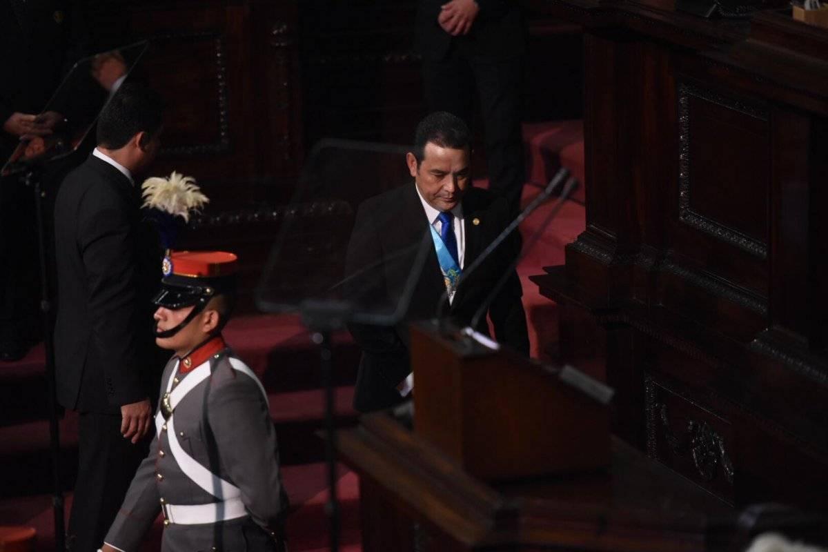 Jimmy Morales presenta segundo informe de gobierno