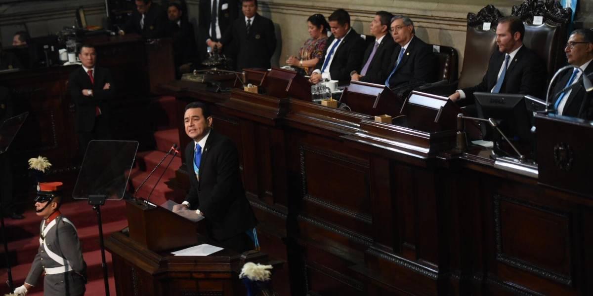 Jimmy Morales fue aplaudido en el Congreso al mencionar un tema específico