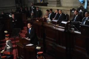 Discurso de Jimmy Morales en el Congreso