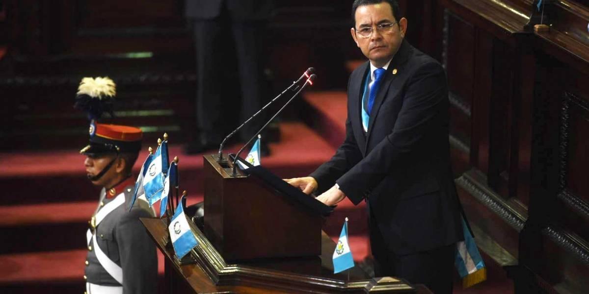 """Presidente Jimmy Morales hace su """"rendición de cuentas"""" en segundo informe de gobierno"""