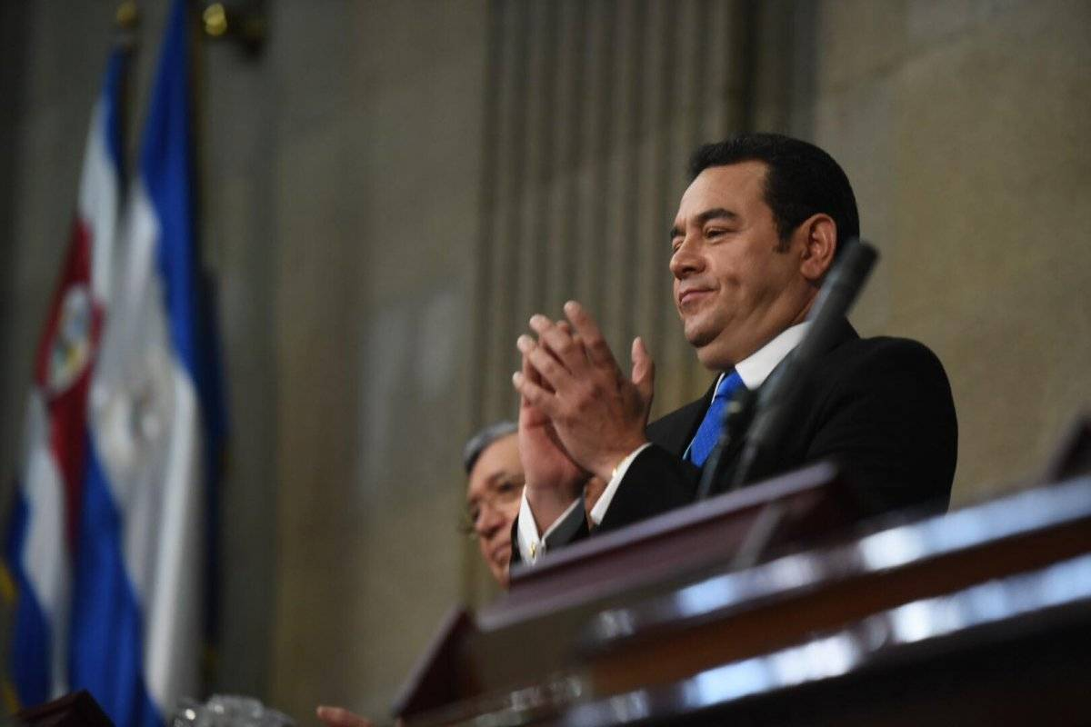 Jimmy Morales en el Congreso