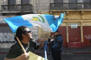 Manifestante en el Centro Histórico