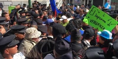 Manifestaciones a inmediaciones del Congreso