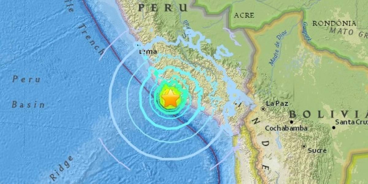 Se registra terremoto de 7.1 en Perú