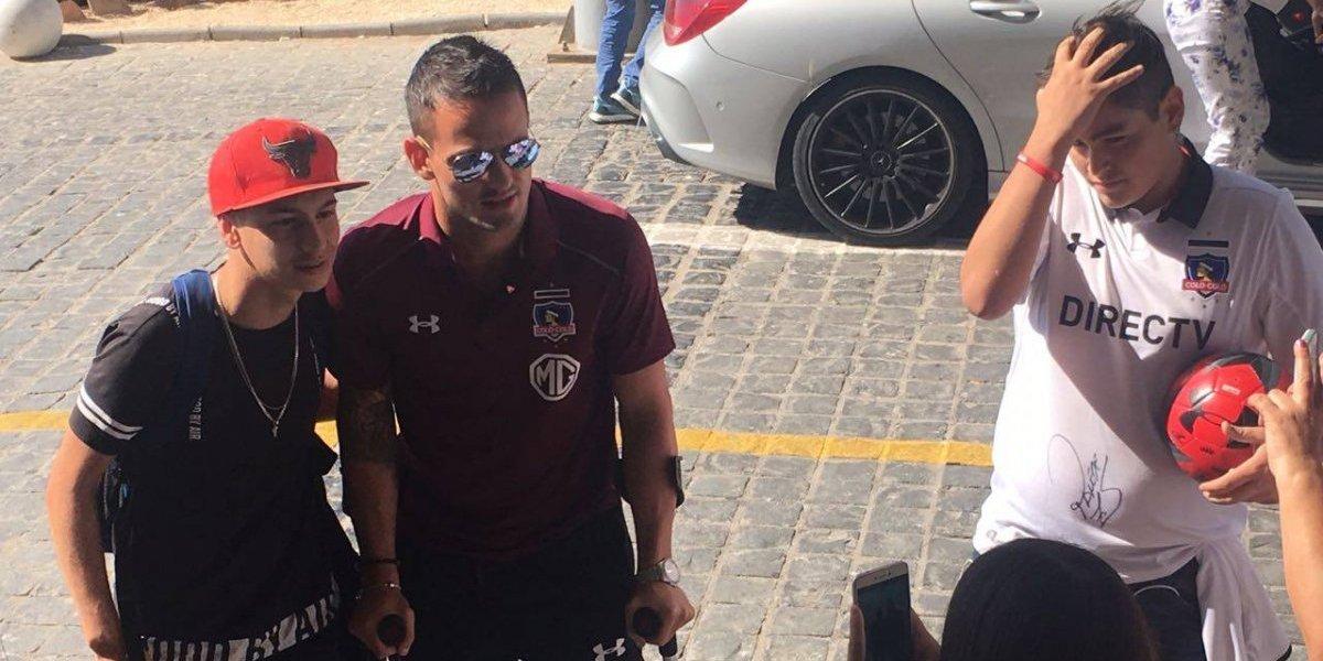 Octavio Rivero llegó a Coquimbo para continuar su recuperación con Colo Colo