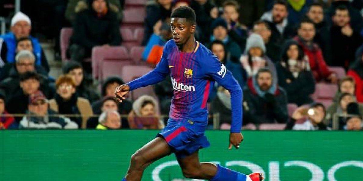 Otra vez: Dembélé volvió a lesionarse y estará un mes sin jugar en Barcelona