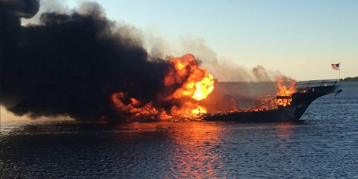 Muere mujer después de incendio en barco casino en Florida