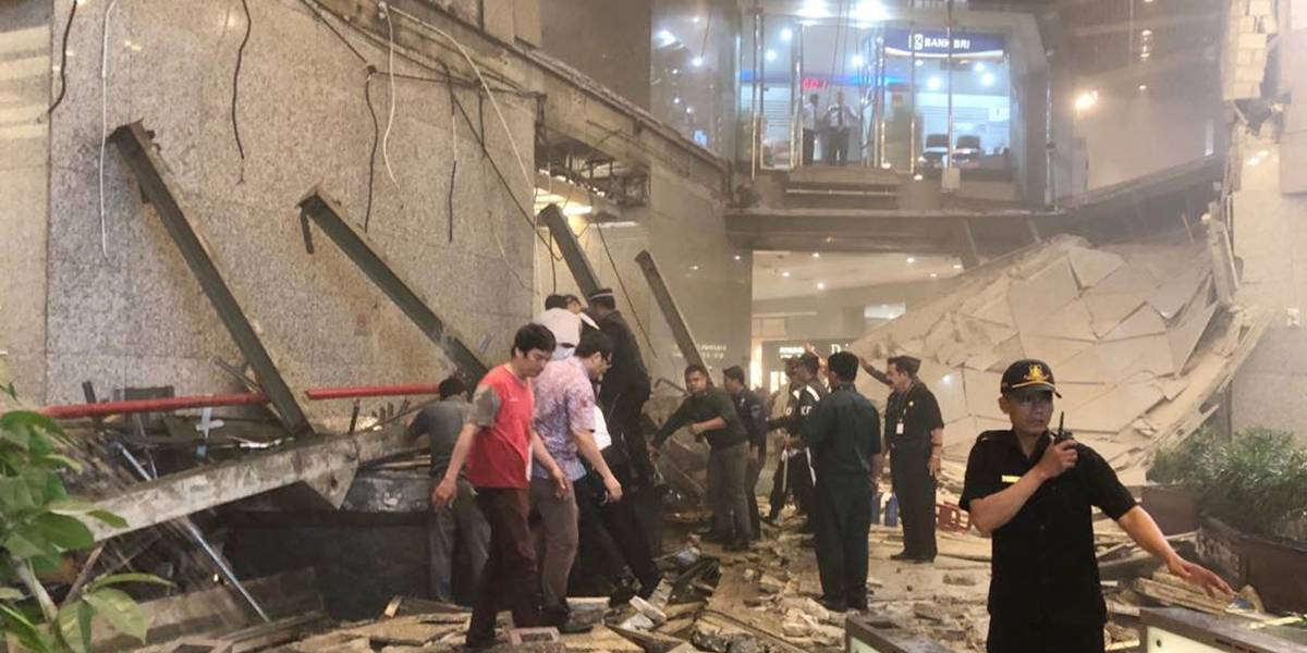 Casi 80 heridos tras colapsar una estructura en Yakarta