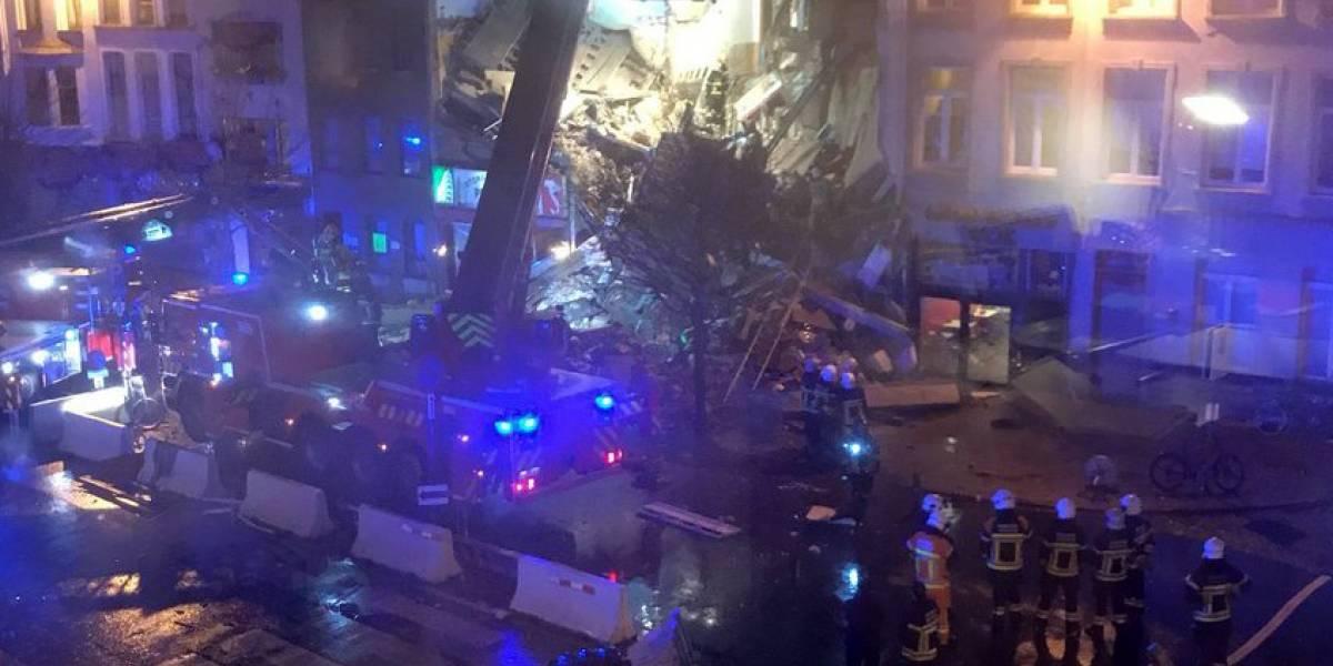 Explosión destruye un edificio en Bélgica se informa que hay varios heridos