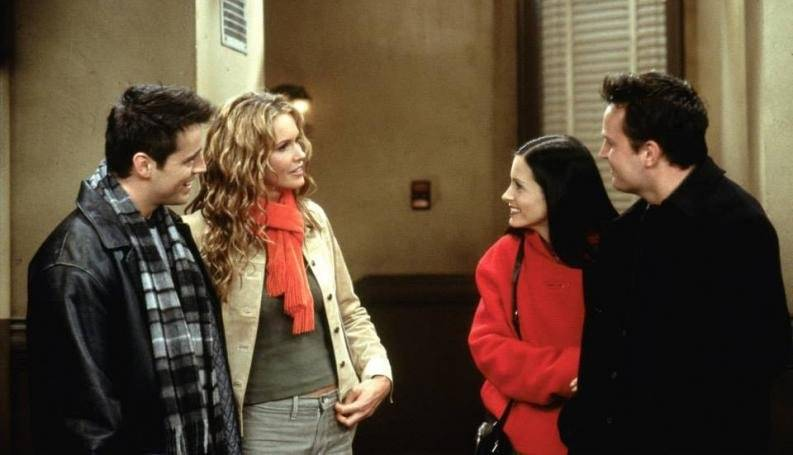 Joey y Janine en Friends