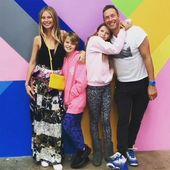 Chris Martin, Gwyneth Paltrow y sus hijos