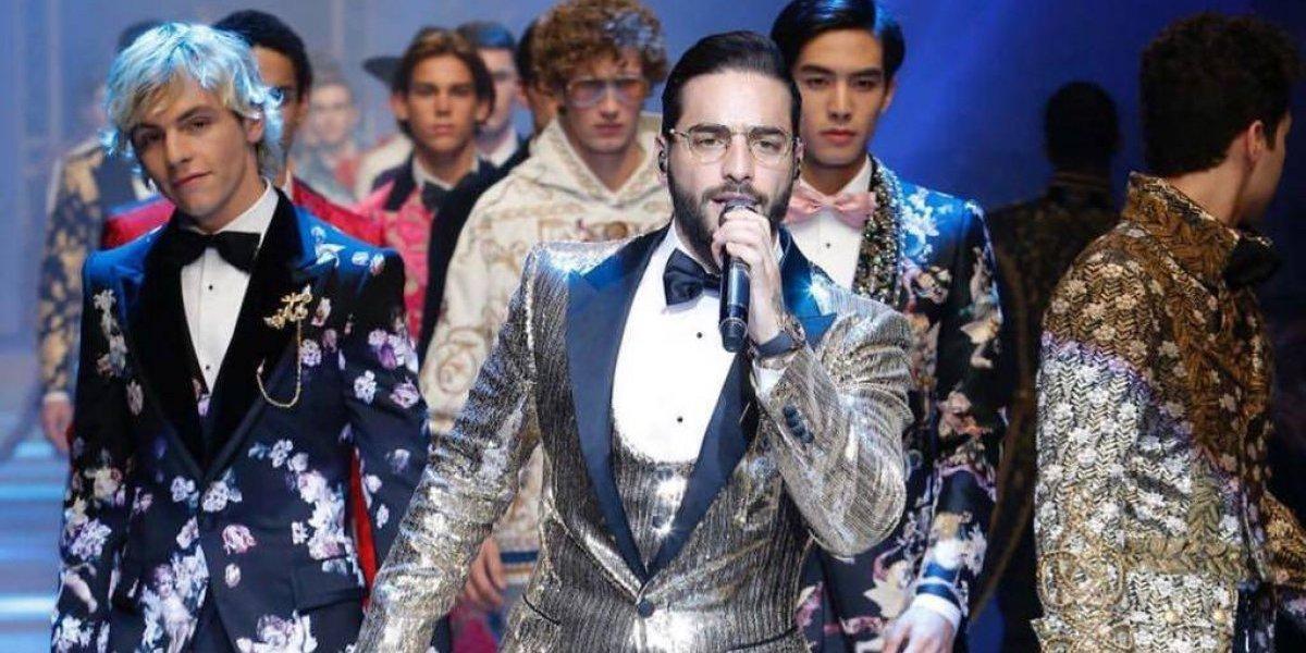 Maluma cantó en el desfile de Dolce & Gabbana