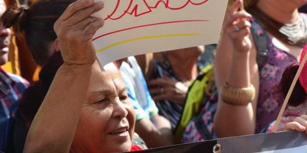 Manifestación de alcaldes en VSJ por la falta de energía eléctrica
