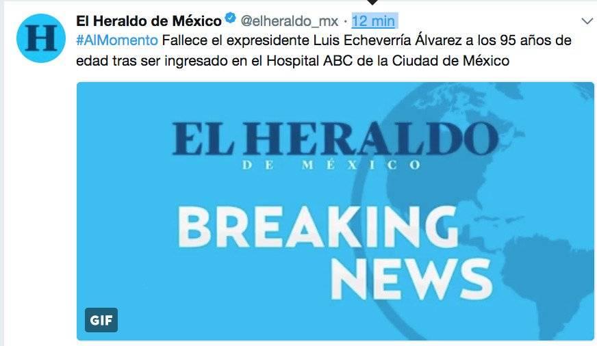 Fake News, la muerte de Luis Echeverría