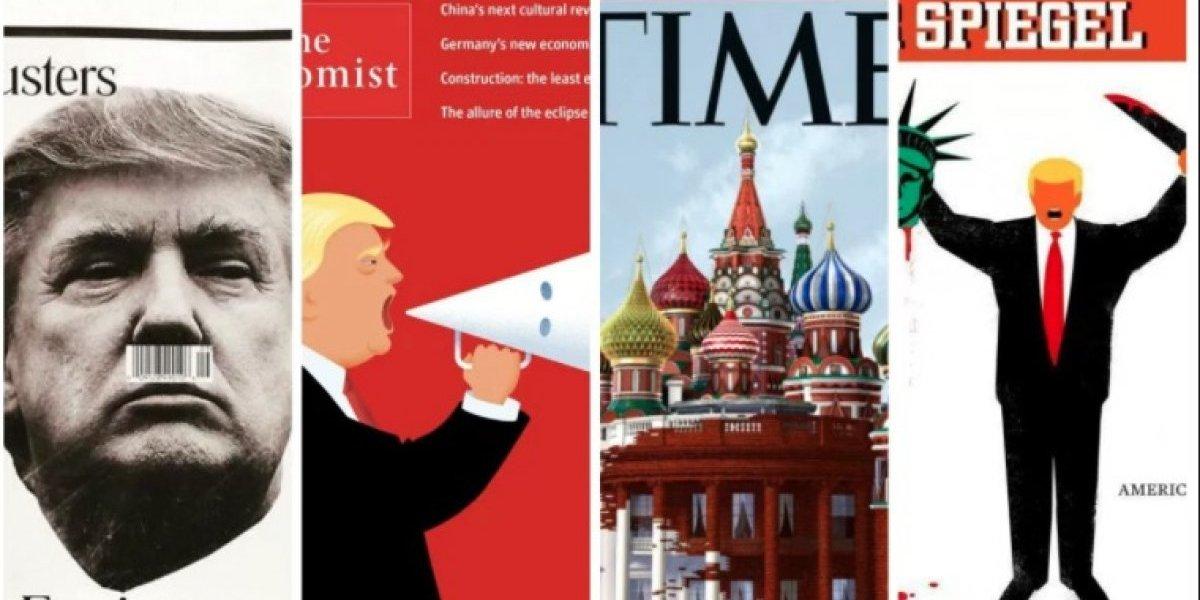 Las portadas de Trump en el mundo: reflejo de un año escalofriante