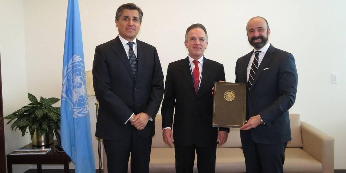 México ratifica Tratado contra Armas Nucleares ante la ONU