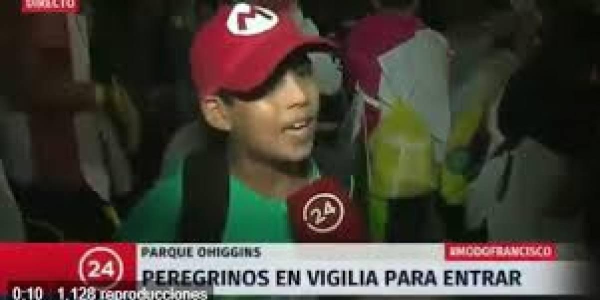 La sorprendente y fatalista reacción de niño por visita del papa Francisco a Chile que es furor en redes sociales
