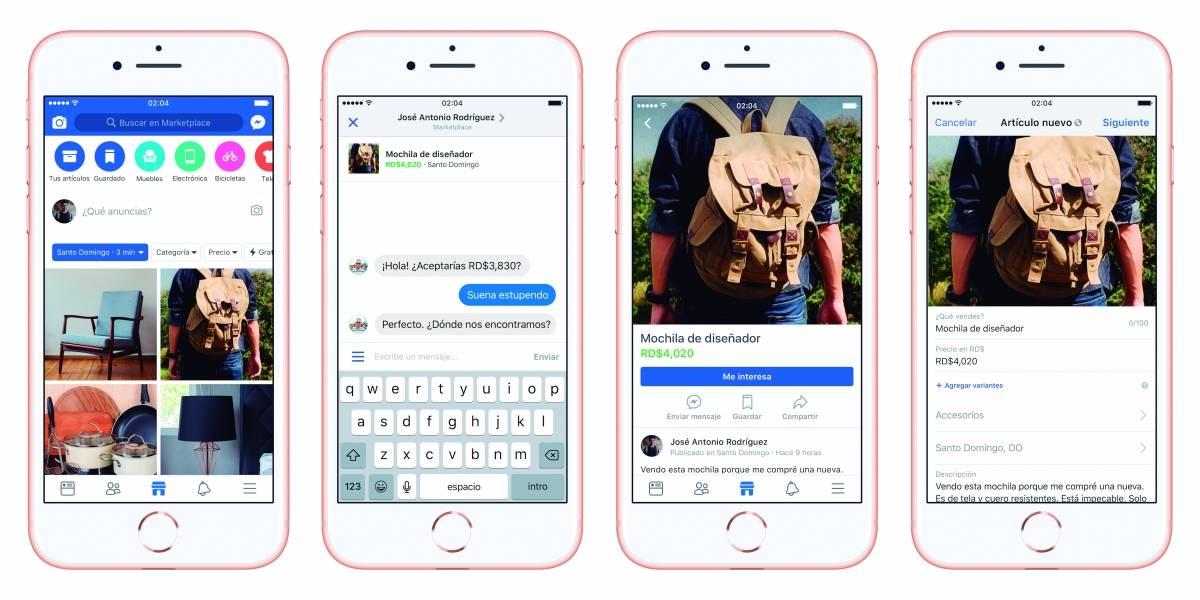 Marketplace: La aplicación de compra y venta de Facebook llegó a RD