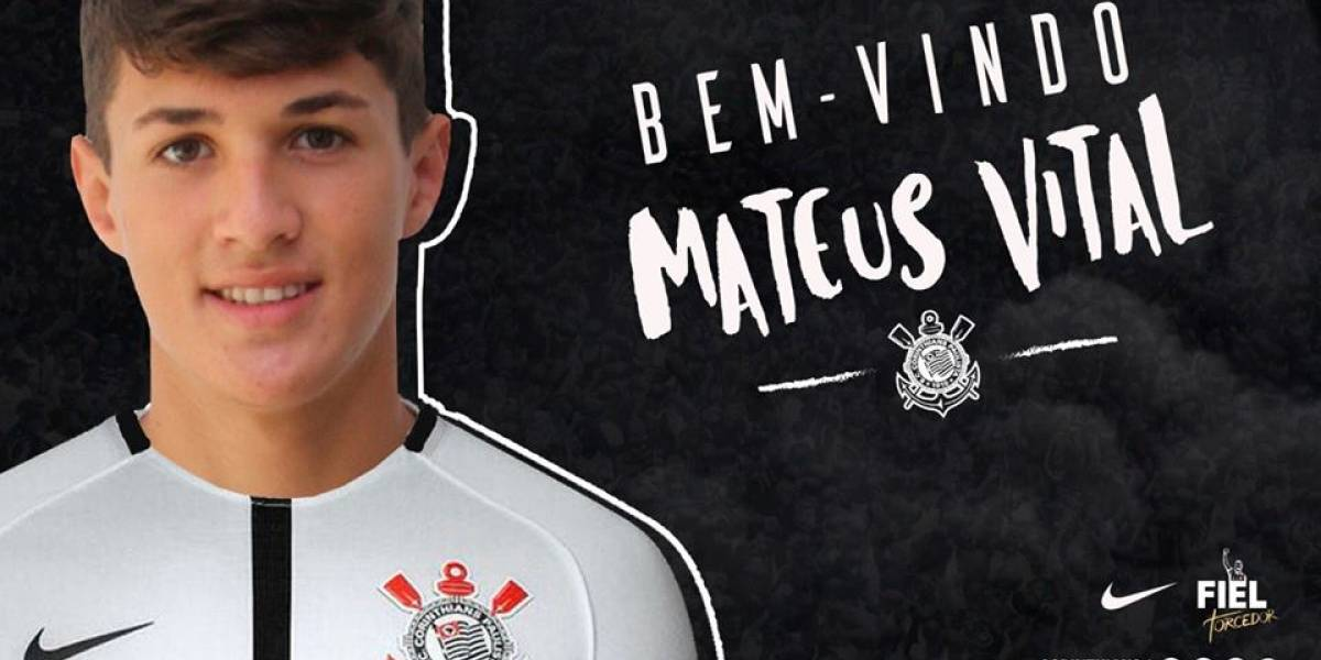 Corinthians anuncia a contratação do meia Mateus Vital, ex-Vasco