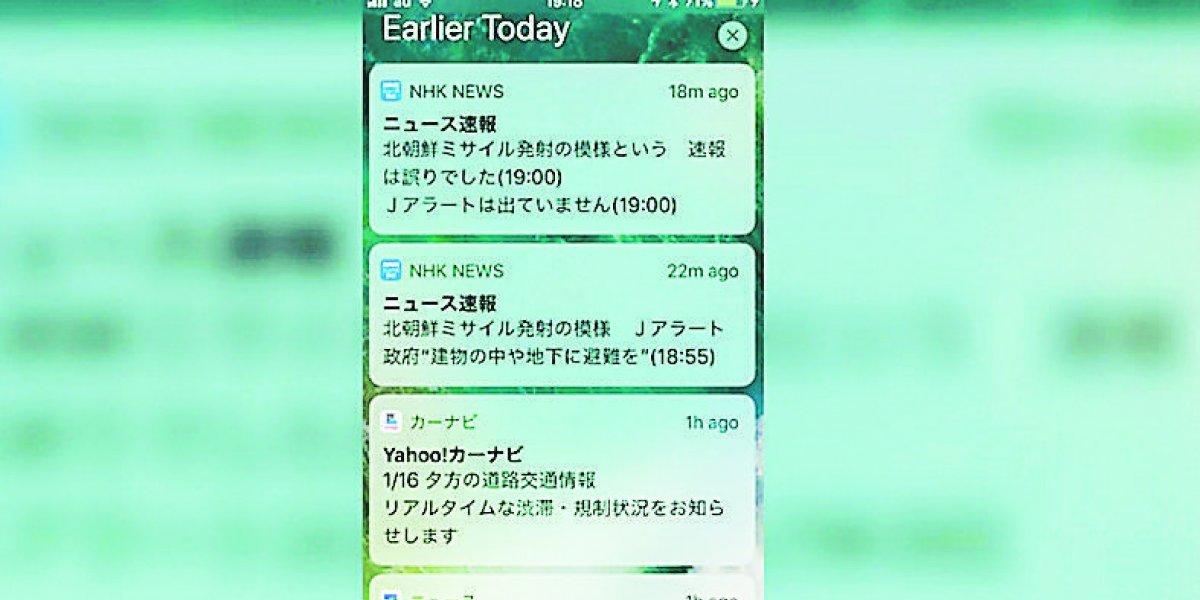 Falsa alerta de misil ahora asustó a Japón