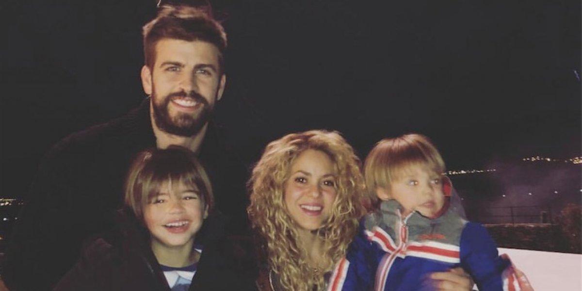 Piqué comparte imagen con Shakira pero ella llama la atención por su apariencia