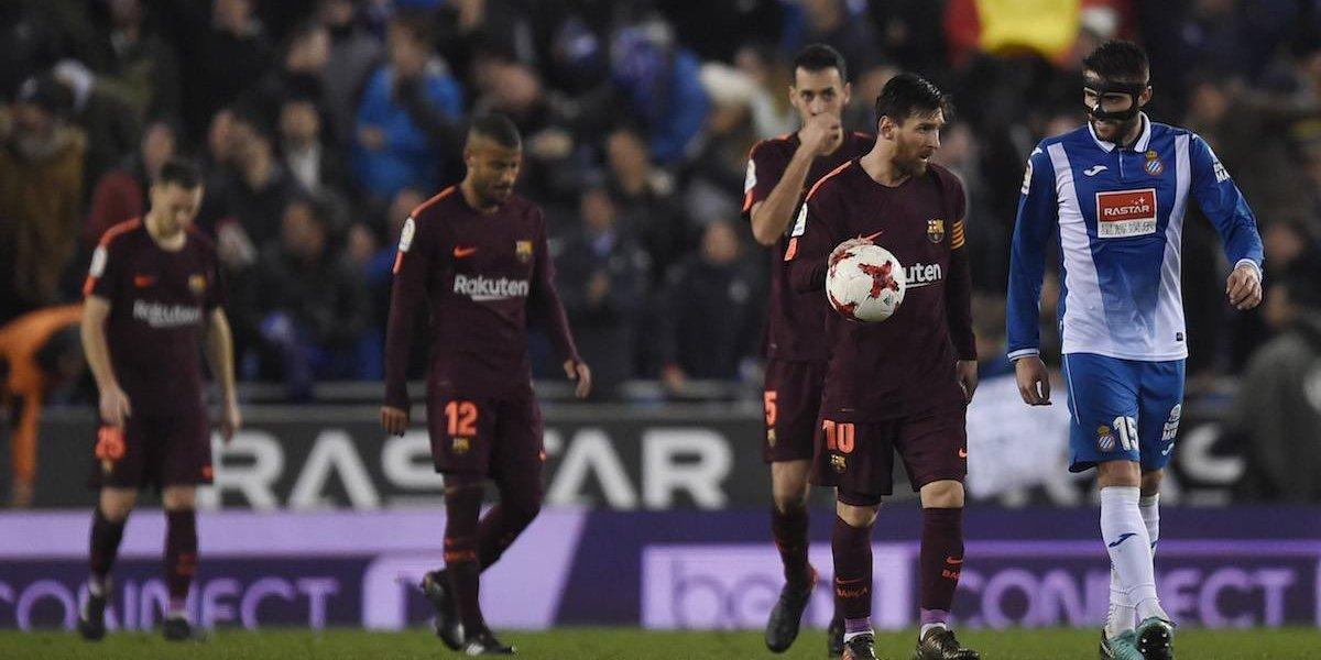 Espanyol acaba con el invicto del Barça con gol de último minuto en Copa del Rey